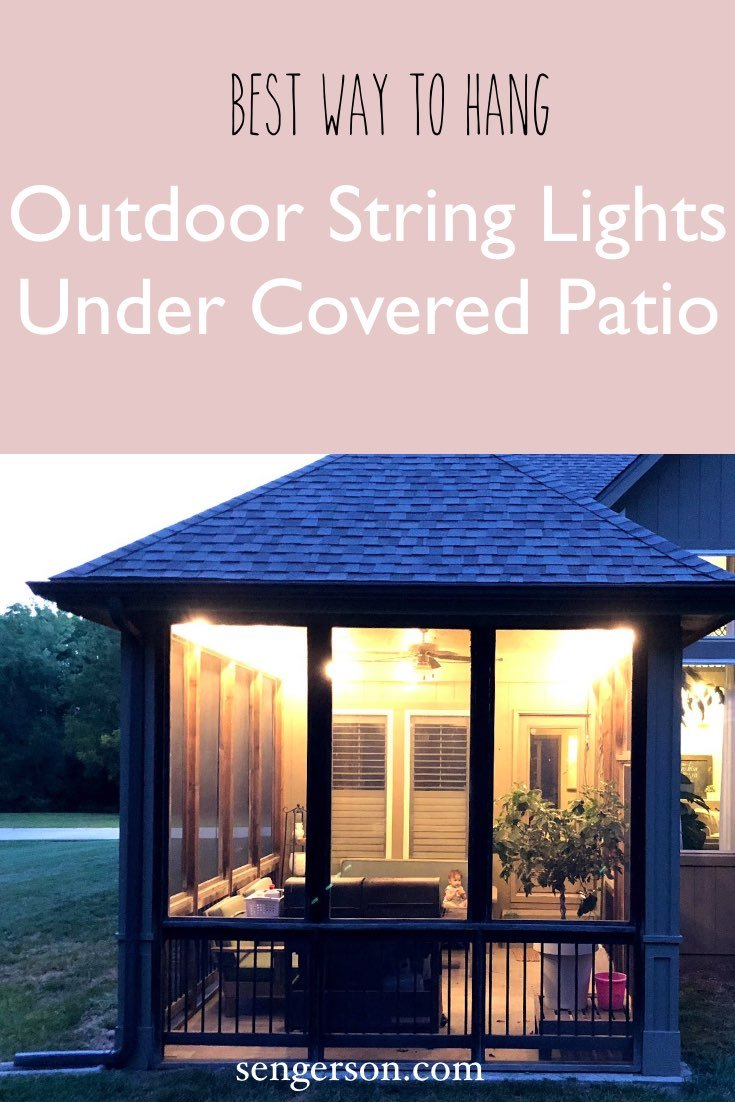 outdoor string lights under covered patio suburbs