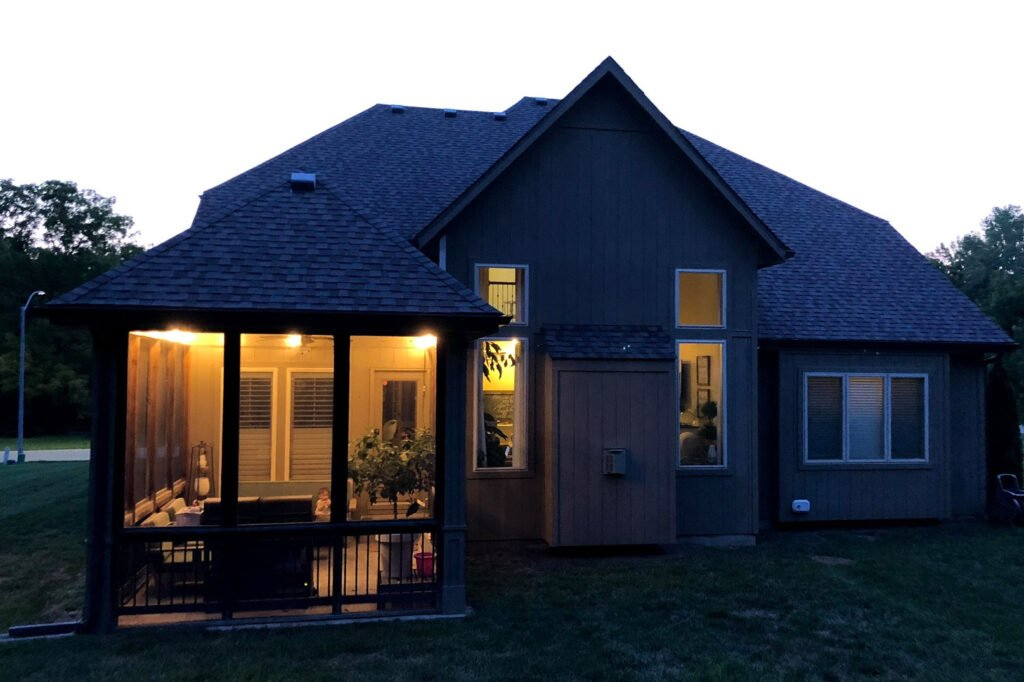 how to hang lights on patio covered deck