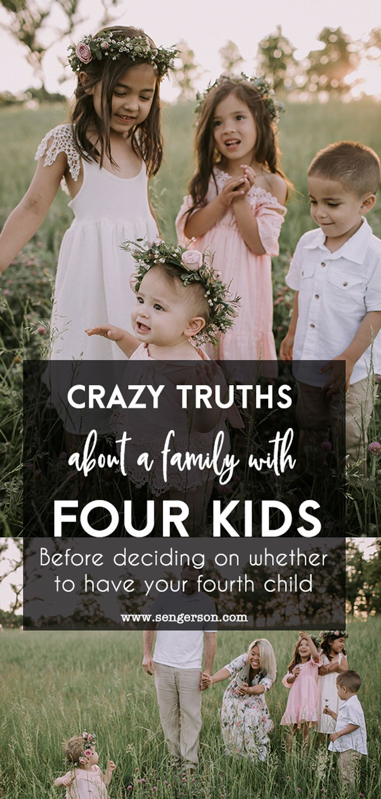The crazy truth to having four kids.