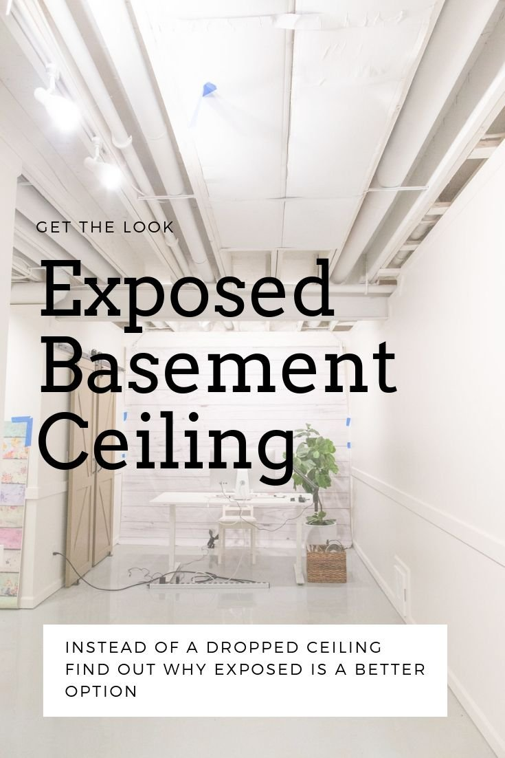 basement ceiling exposed painting