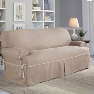 sofa slipcover twill with tailored lines