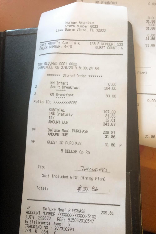 Disney restaurant review at Akershus Photo