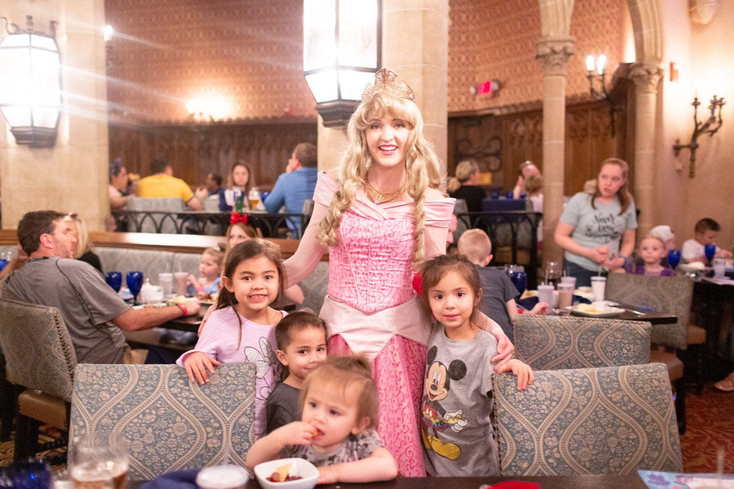 Disney restaurant review at Cinderella's Royal Table photo with Aurora