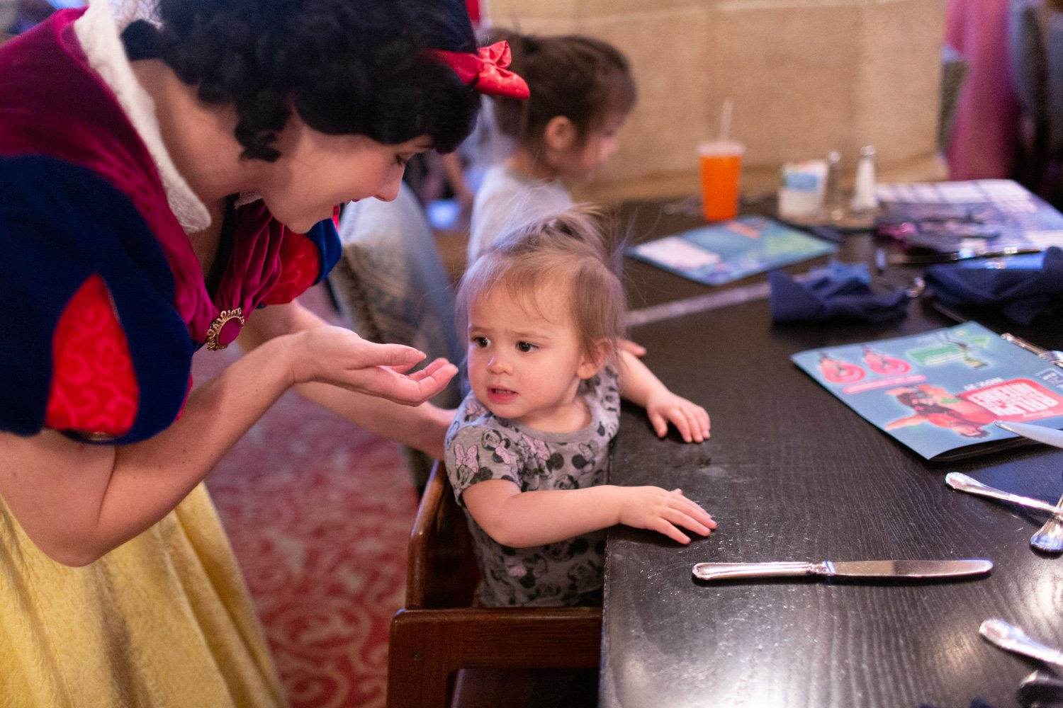 Disney restaurant review at Cinderella's Royal Table photo with Snow White