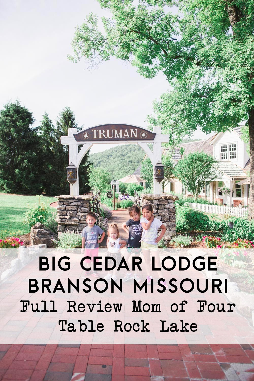 big cedar lodge in three days in branson missour with families