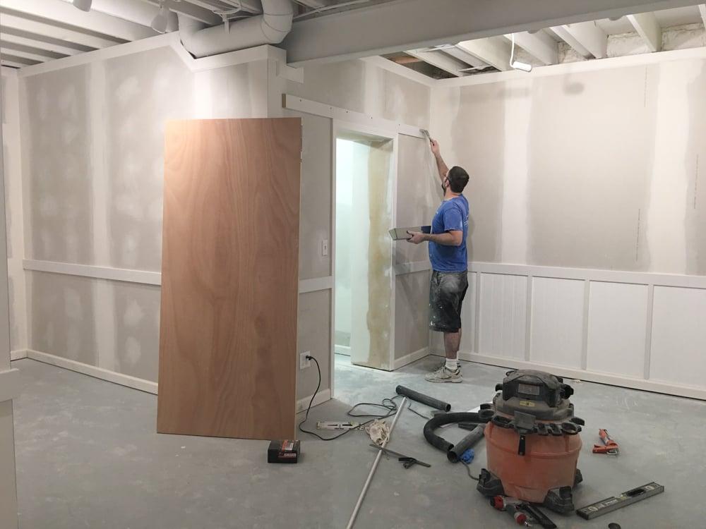 barn door closet diy project