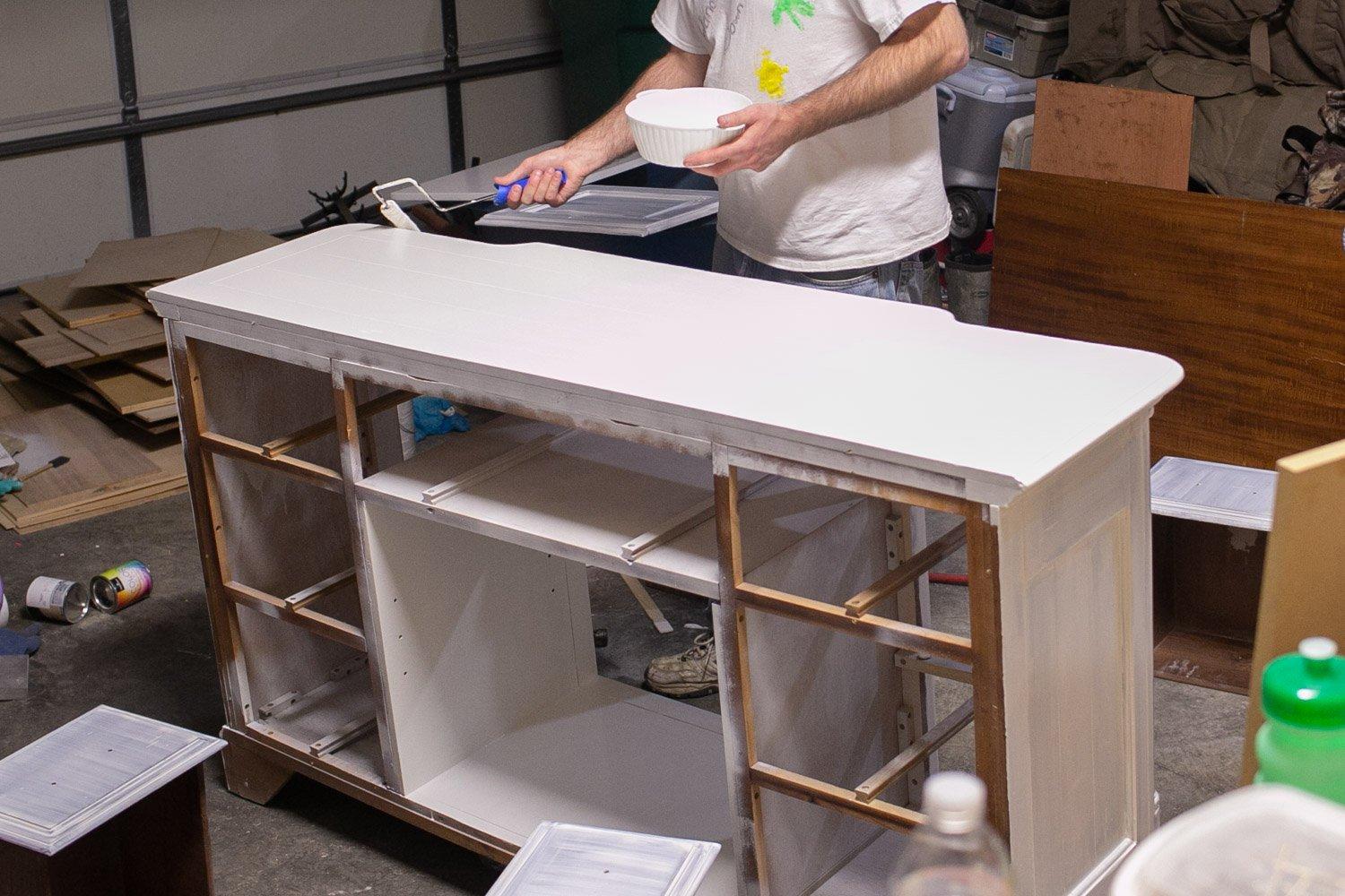 preparing your dresser to be chalk painted