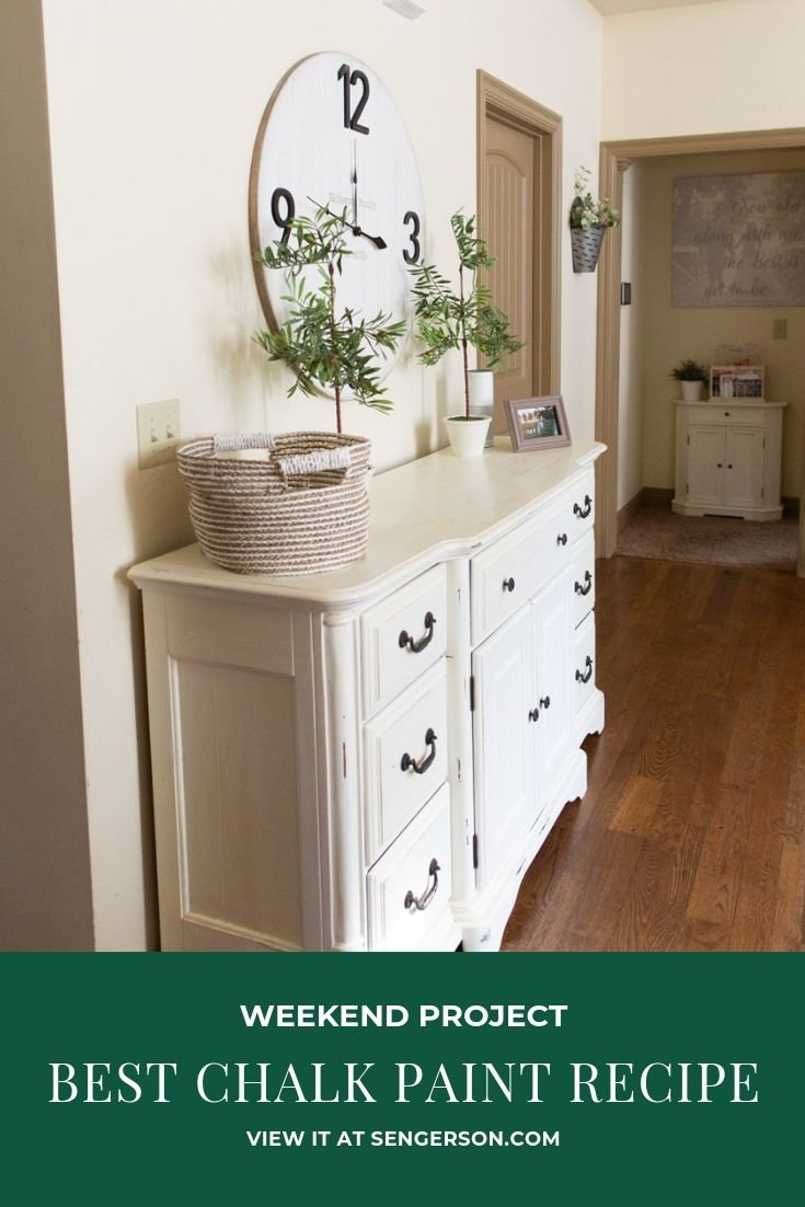 chalk painted dresser easy to do