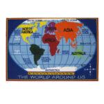 kids playroom rug world map