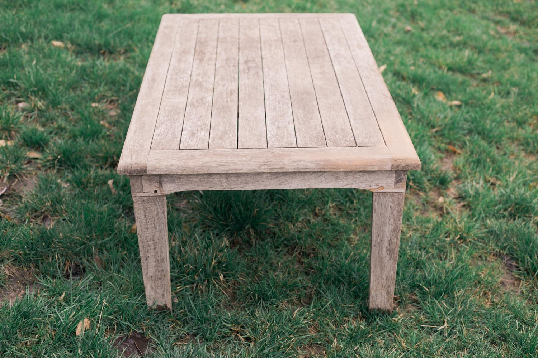 refinish teak table