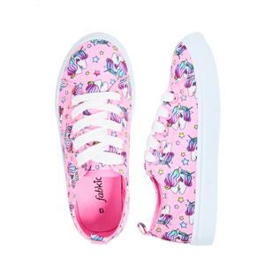 unicorn lace up pink shoes