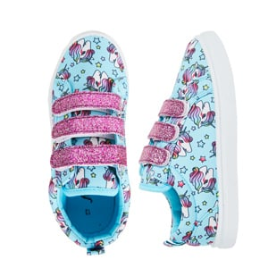 unicorn velcro sneakers blue