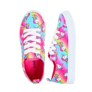 unicorn rainbow laceup sneakers
