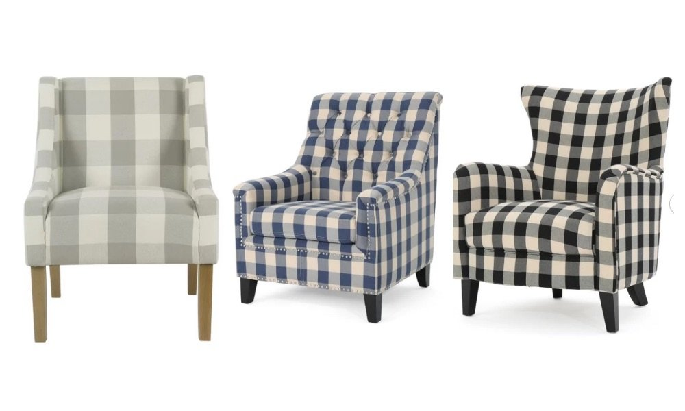 buffalo check chairs from joss and main review