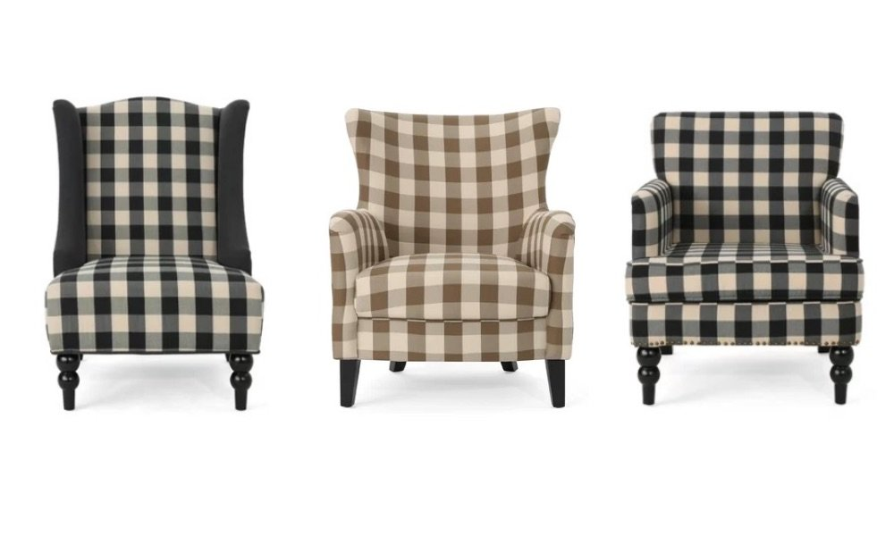 sources for buffalo check accent chairs