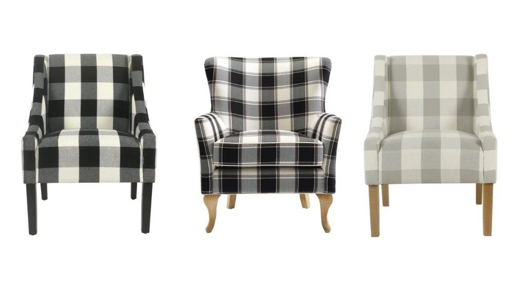 buffalo check chairs from overstock review