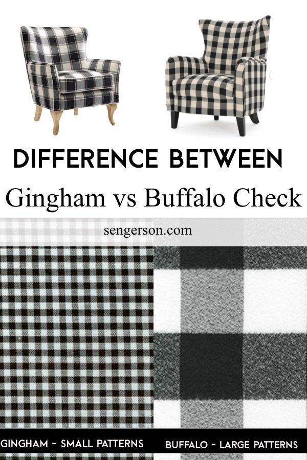 difference between gingham and buffalo check