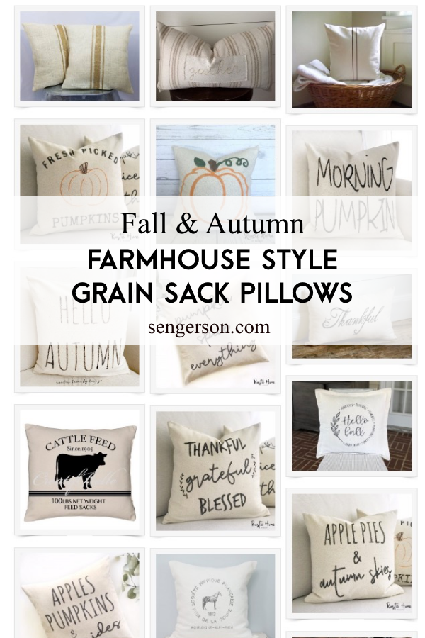 fall grain sack pillow ideas