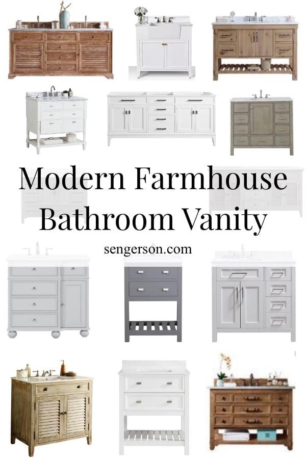modern farmhouse bathroom vanity sources