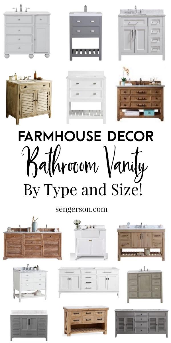 modern farmhouse bathroom vanity curated list