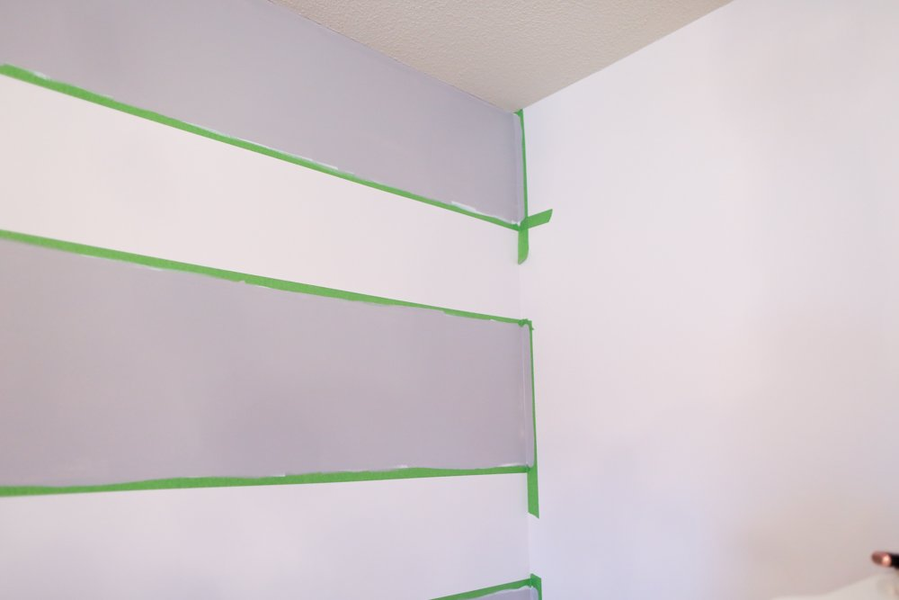 how to paint stripes on wall painting the edges