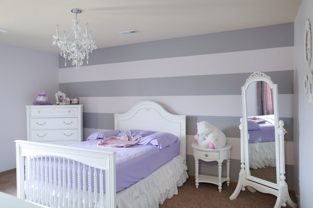 how to paint stripes on wall compelte project