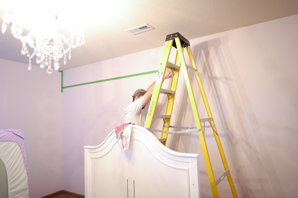 how to paint stripes on wall taping wall