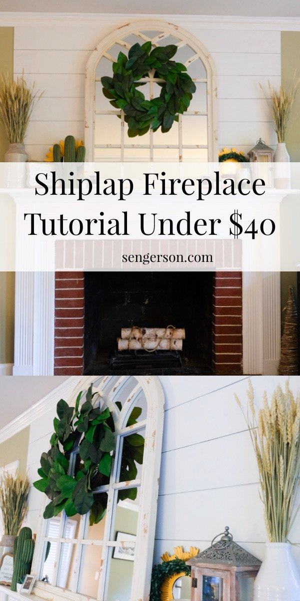 super easy tutorial on how to shiplap a fireplace