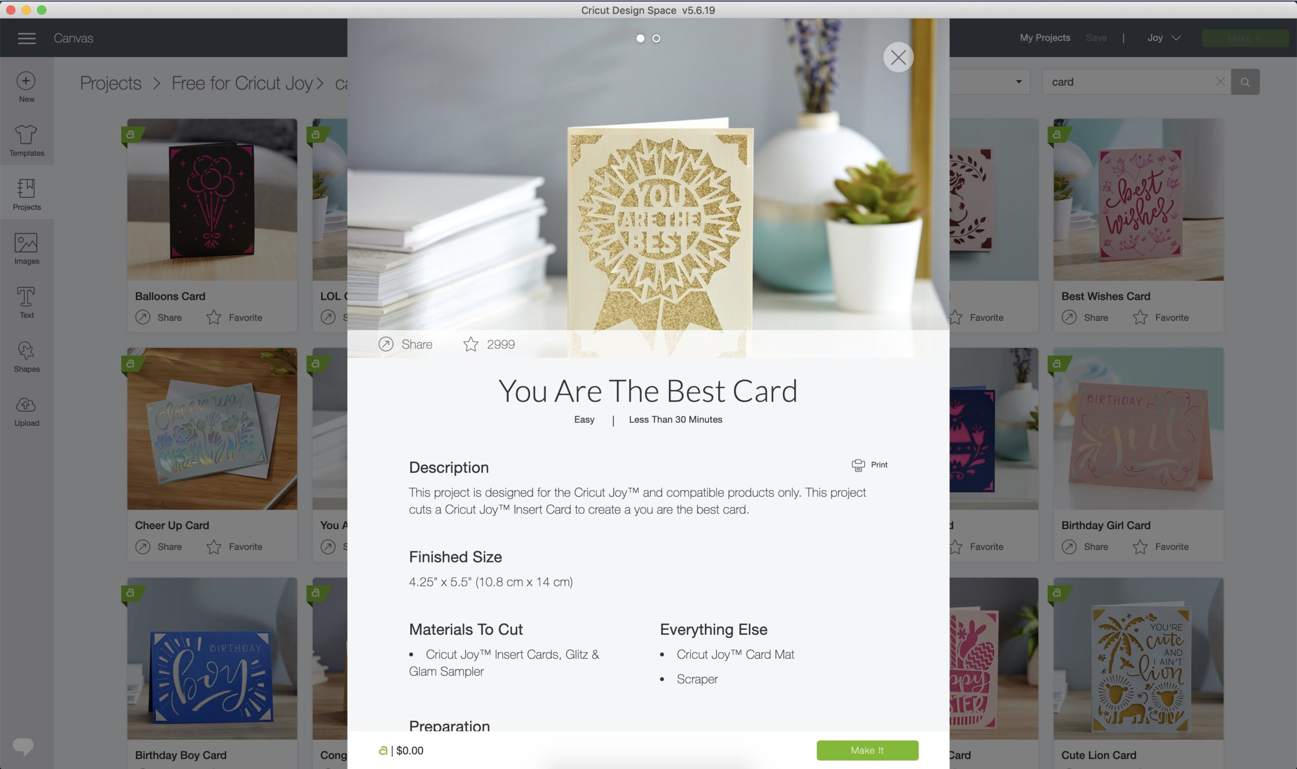 how to use design space for insert cards