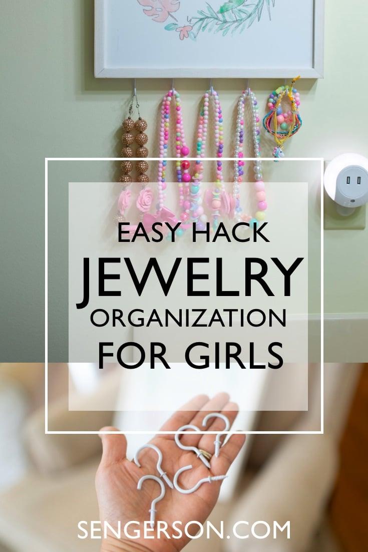 Kids jewelry organizer hack – 1