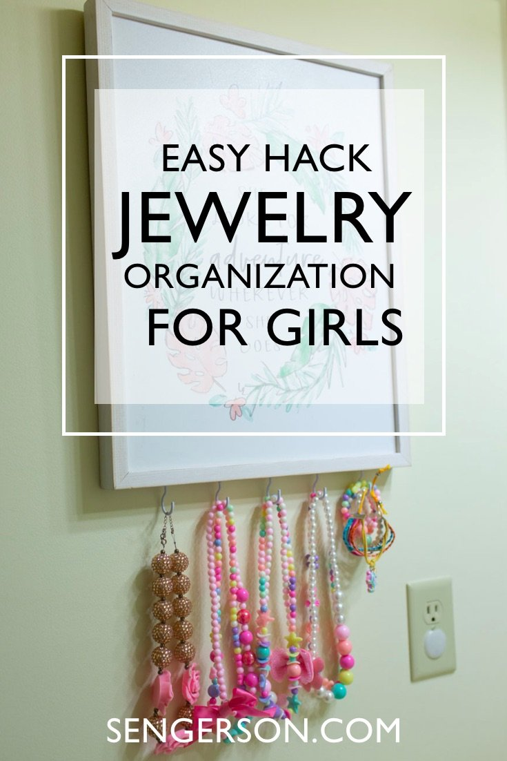 Kids jewelry organizer hack