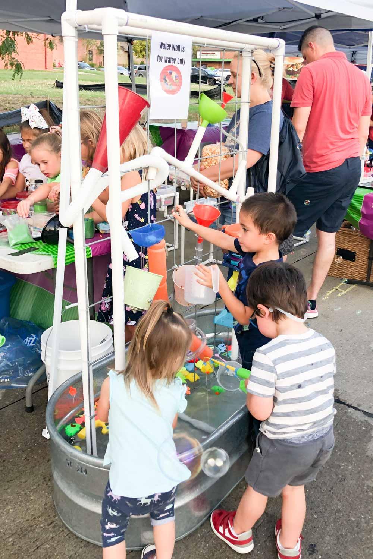 diy sensory table with pvc for kids