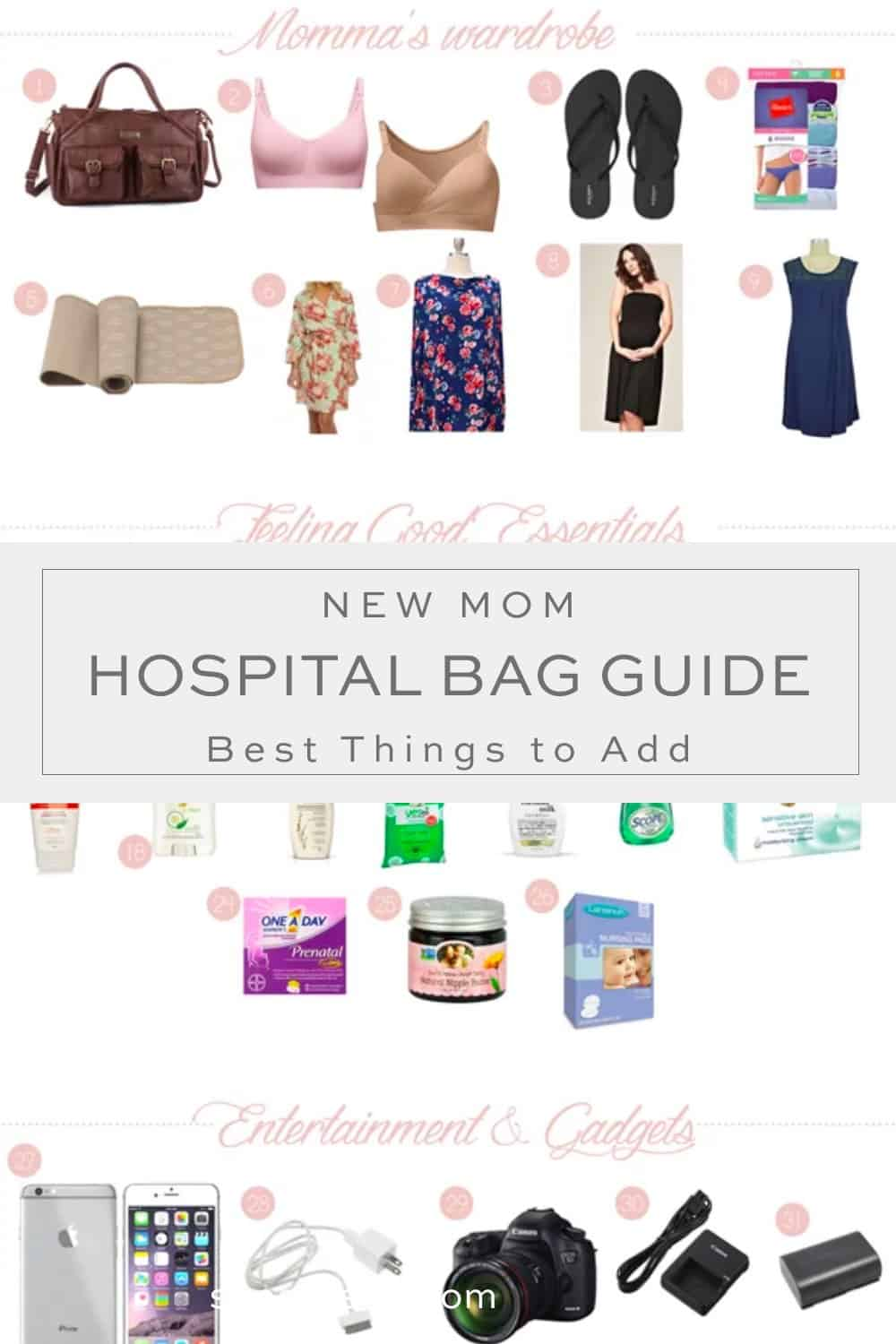 what to put in hospital bag for pregnant moms