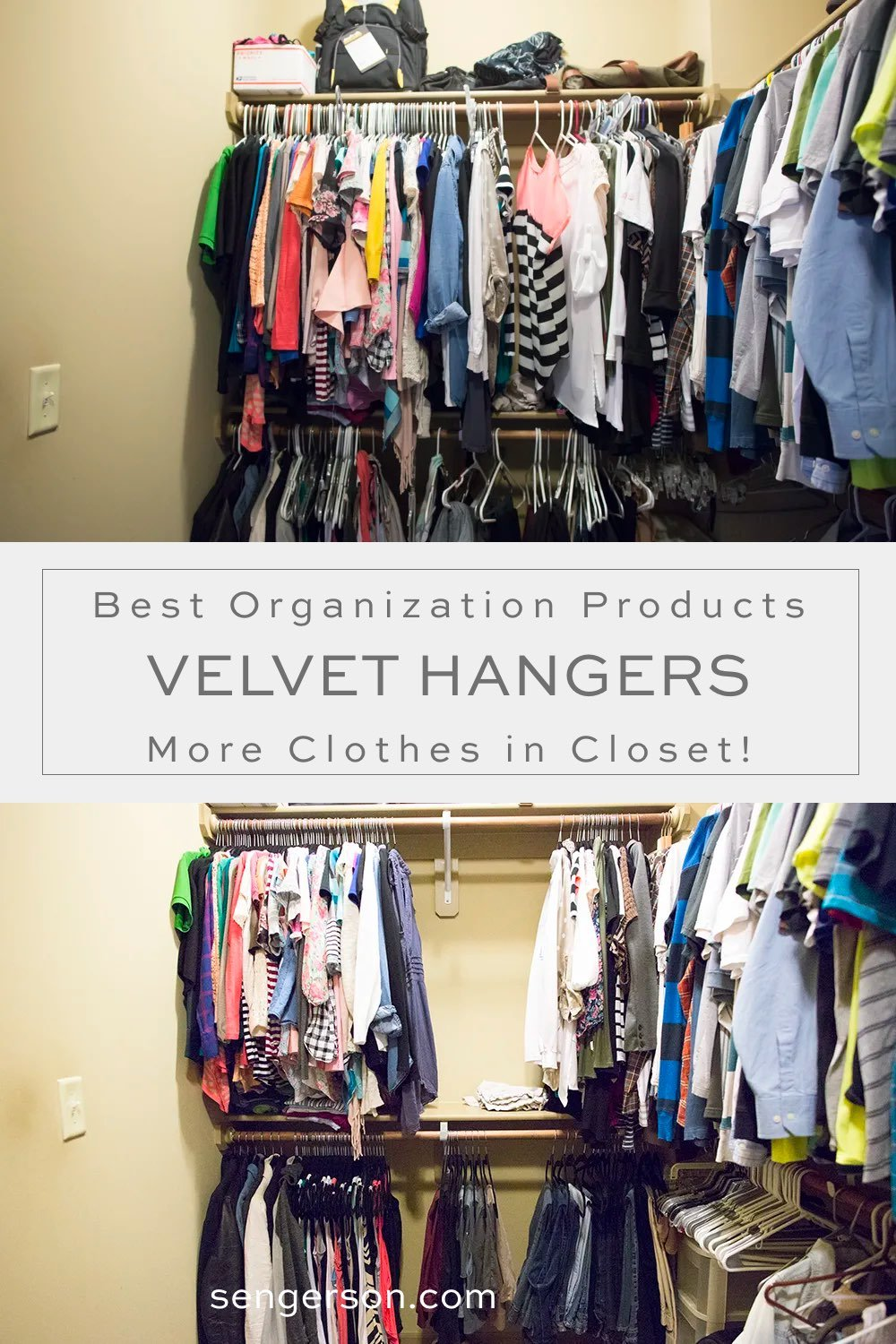 addig more closet space with velvet hangers