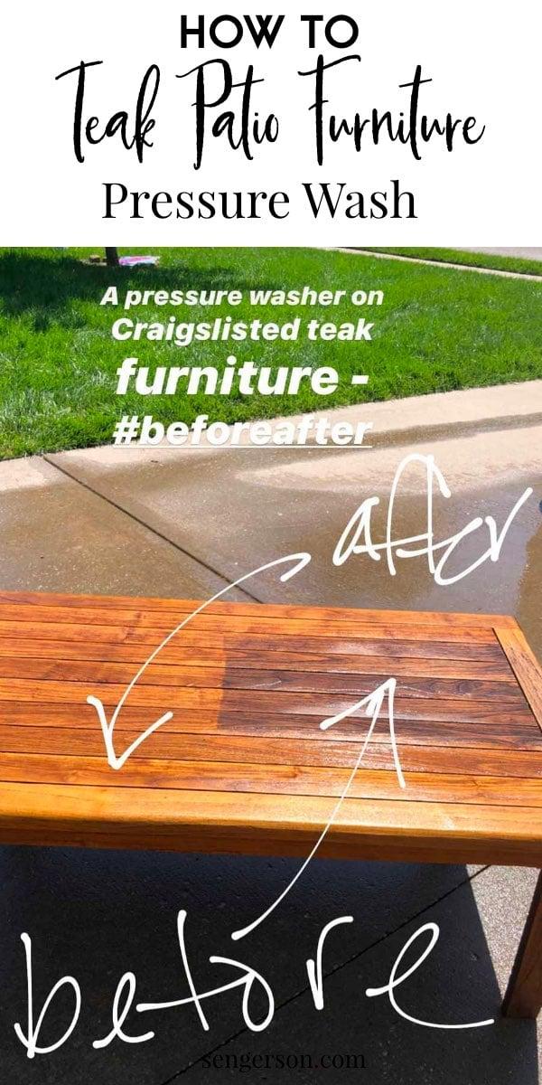 power wash teak furniture easy fast