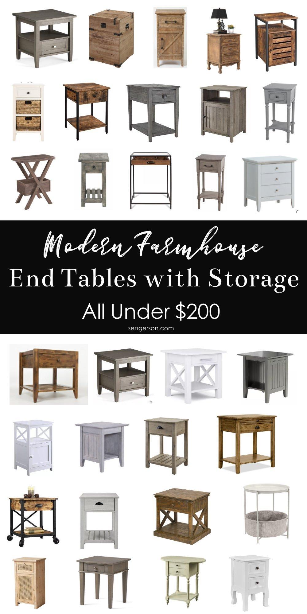 modern farmhouse end tables
