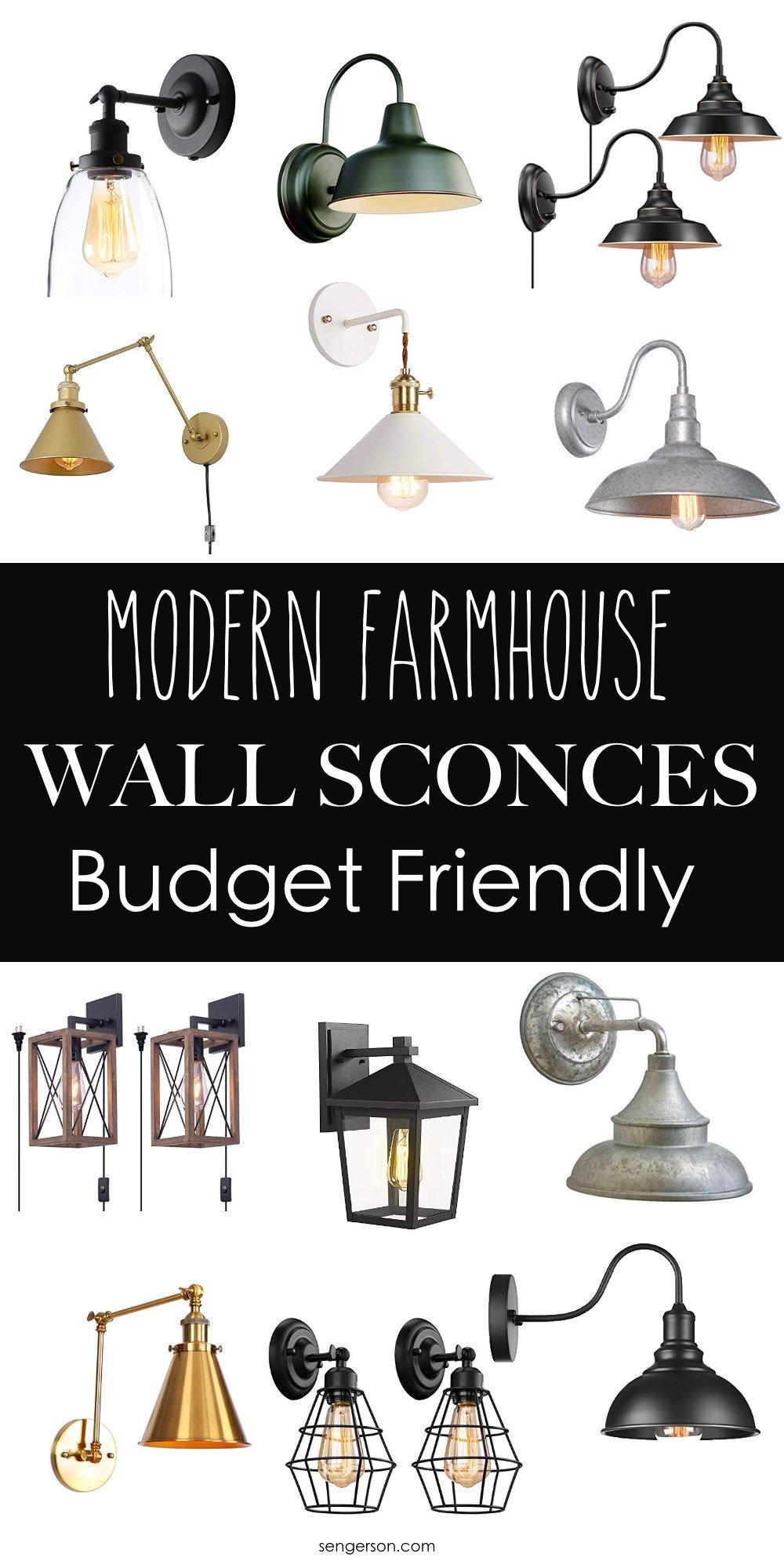 Modern farmhouse sconce roundup
