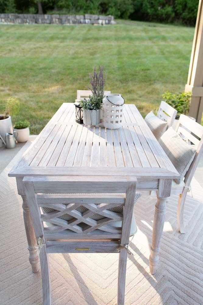 white wash teak neutral decor outdoor dining set
