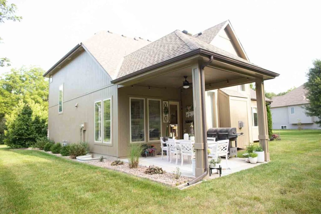 perennial landscaping for suburban home