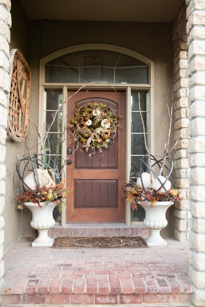 small patio porch with fall decor elegant looks expensive