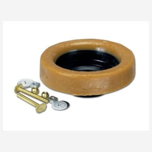 Oatey Johni-Ring 3 in. - 4 in. Jumbo Toilet Wax Ring with Plastic Horn and Extra-Long Brass Toile...