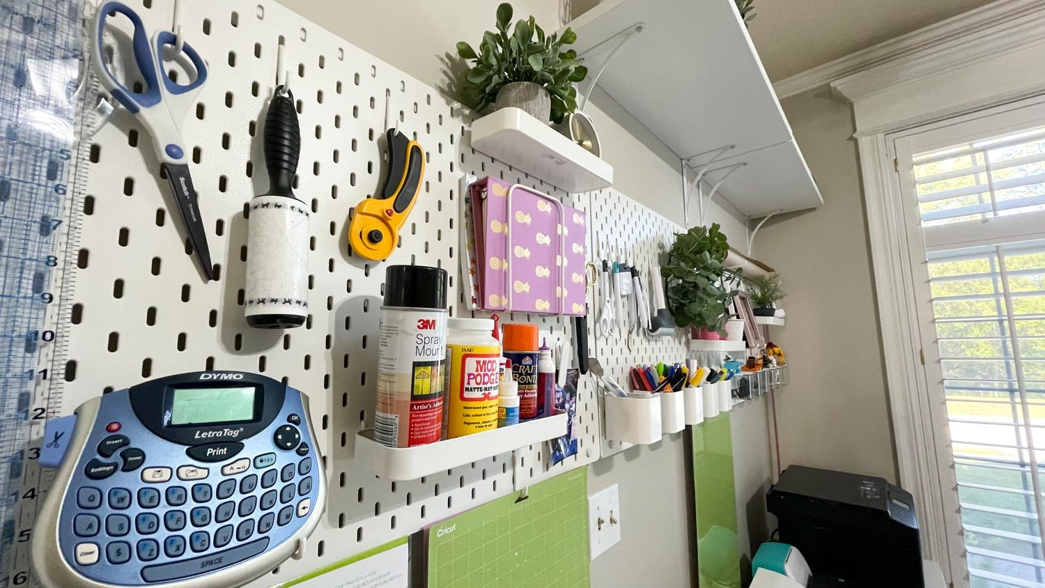 ikea pegboard for home office tips
