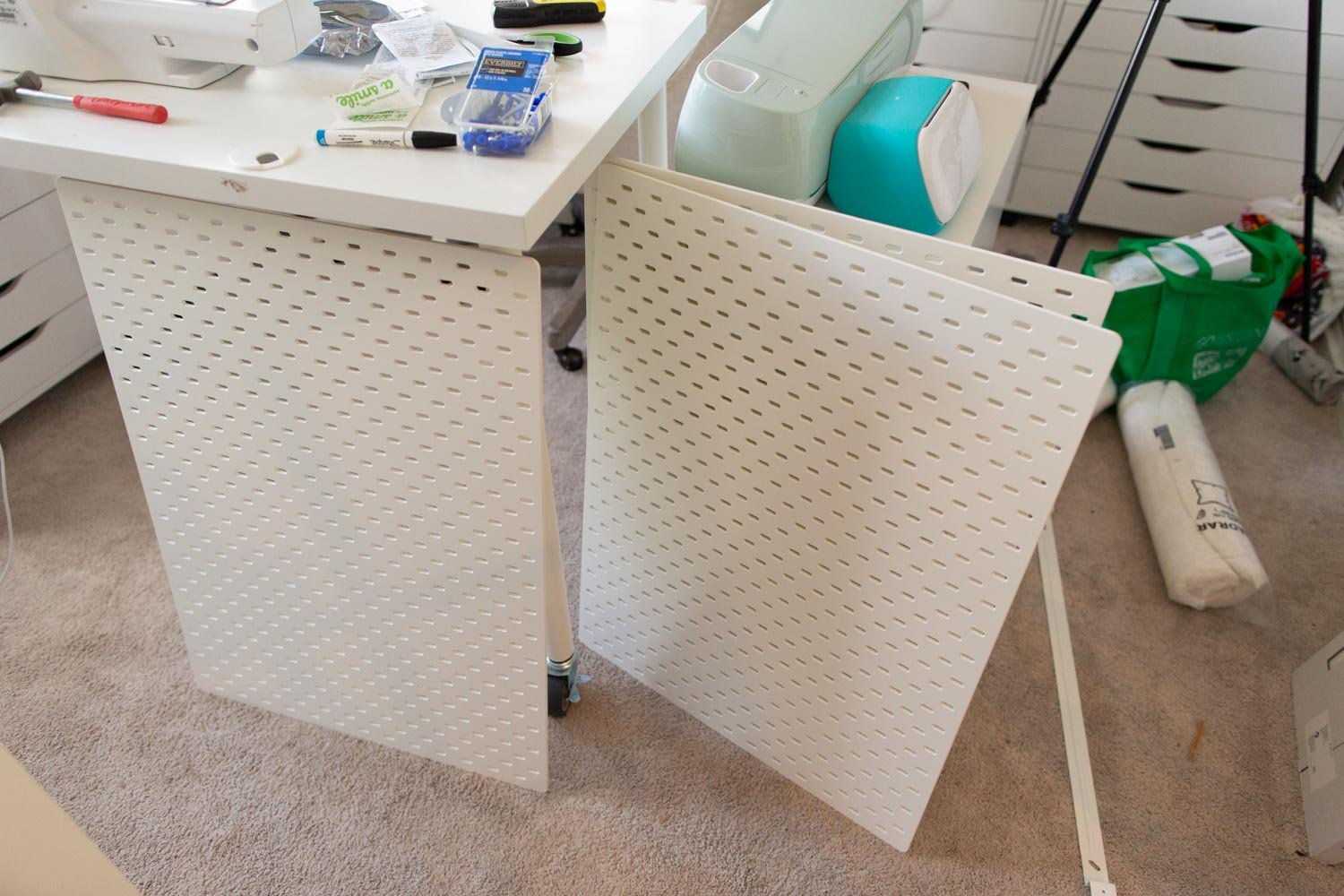 ikea pegboard packaging and unboxing
