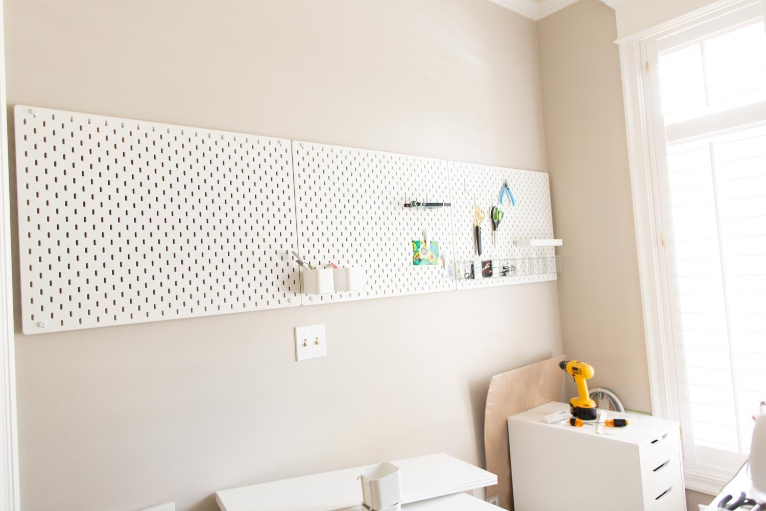 pegboard placement and mounting