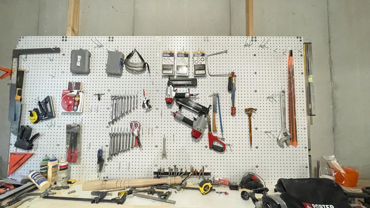 traditional pegboard system