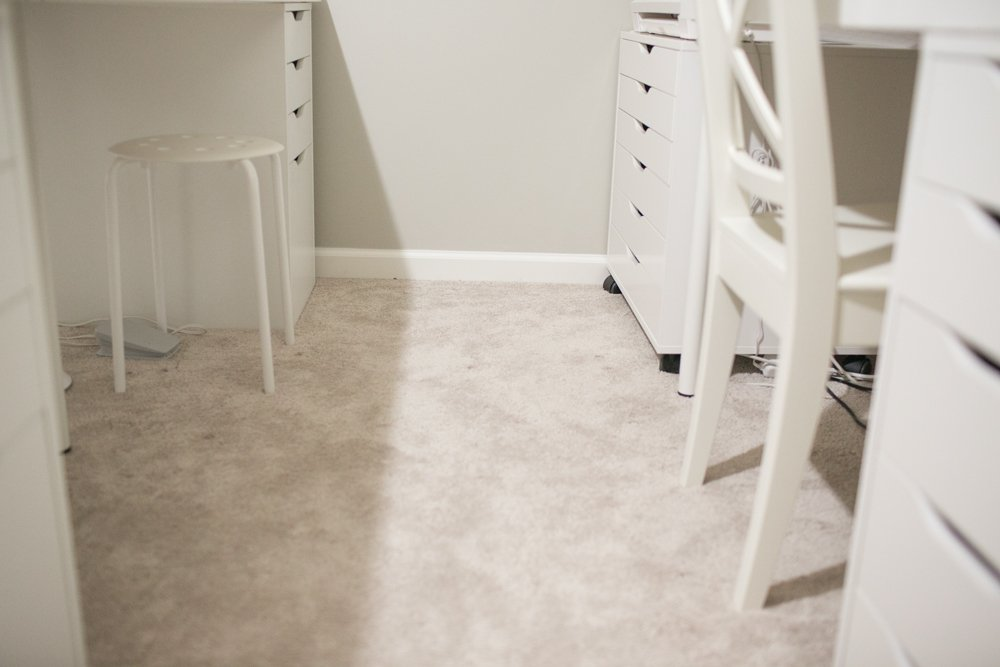 Craft Room Makeover Reveal - Phase 2 - New Floor Progress with Hypoallergenic Options to Carpet   Air.o Unified Soft Flooring
