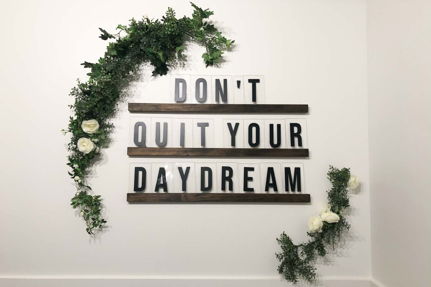 Easy DIY Oversized Letter Board Tutorial for Your Wall (with Phrase Ideas)