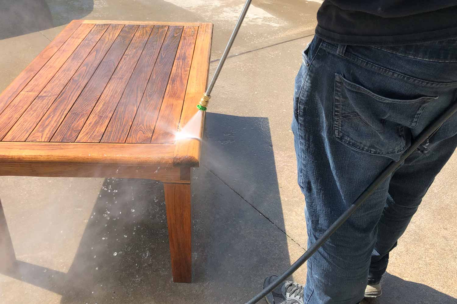 Ultimate Guide to Pressure Washing Teak Outdoor Patio Furniture