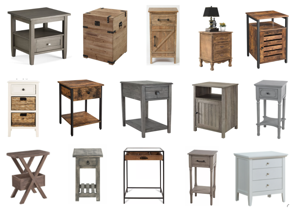 Modern Farmhouse End and Side Tables with Storage