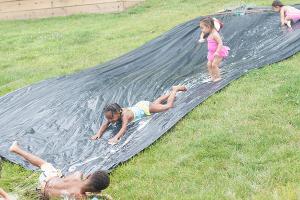 DIY Water Slip and Slide